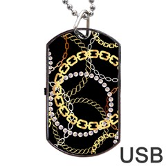 Luxury Chains And Belts Pattern Dog Tag Usb Flash (two Sides) by tarastyle