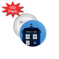 Doctor Who Tardis 1 75  Buttons (100 Pack)