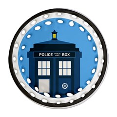 Doctor Who Tardis Ornament (round Filigree)