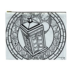Bad Wolf Tardis Art Drawing Doctor Who Cosmetic Bag (xl)