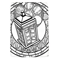 Bad Wolf Tardis Art Drawing Doctor Who Removable Flap Cover (s)
