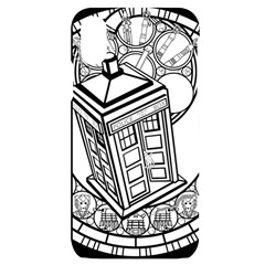 Bad Wolf Tardis Art Drawing Doctor Who Iphone X/xs Black Uv Print Case by Sudhe
