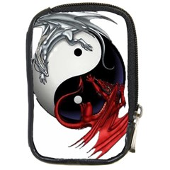 Yin And Yang Chinese Dragon Compact Camera Leather Case