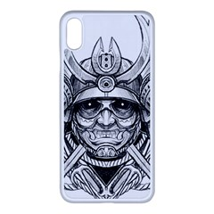 Drawing Samurai Tattoo Sketch Japanese Samurai Iphone Xs Max Seamless Case (white)