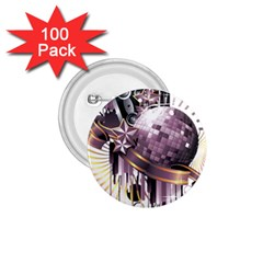 Nightclub Disco Ball Dj Dance Speaker 1 75  Buttons (100 Pack)