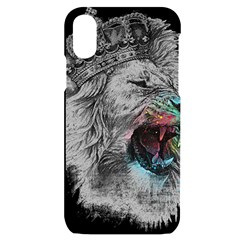 Lion King Head Iphone X/xs Black Uv Print Case