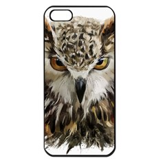 Vector Hand Painted Owl Iphone 5 Seamless Case (black)