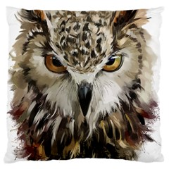 Vector Hand Painted Owl Standard Flano Cushion Case (one Side)