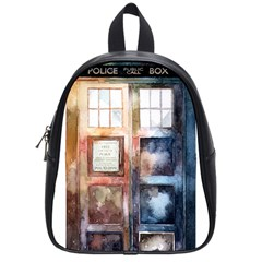 Tardis Doctor Who Transparent School Bag (small)