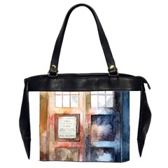 Tardis Doctor Who Transparent Oversize Office Handbag (2 Sides)