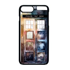 Tardis Doctor Who Transparent Iphone 8 Plus Seamless Case (black)