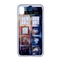 Tardis Doctor Who Transparent Iphone Xr Seamless Case (white)