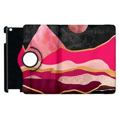 Pink And Black Abstract Mountain Landscape Apple Ipad 3/4 Flip 360 Case