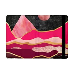 Pink And Black Abstract Mountain Landscape Ipad Mini 2 Flip Cases by charliecreates