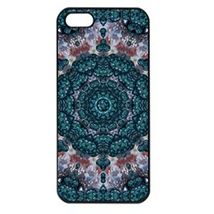 Marbels Glass And Paint Love Mandala Decorative Iphone 5 Seamless Case (black) by pepitasart