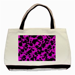 Black And Pink Leopard Style Paint Splash Funny Pattern Basic Tote Bag by yoursparklingshop