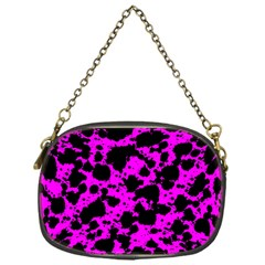 Black And Pink Leopard Style Paint Splash Funny Pattern Chain Purse (one Side) by yoursparklingshop