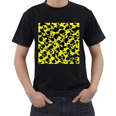 Black And Yellow Leopard Style Paint Splash Funny Pattern  Men s T-shirt (black) by yoursparklingshop
