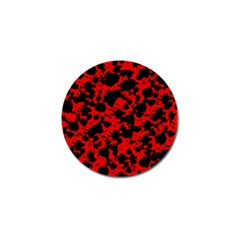 Black And Red Leopard Style Paint Splash Funny Pattern Golf Ball Marker (4 Pack) by yoursparklingshop