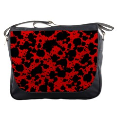 Black And Red Leopard Style Paint Splash Funny Pattern Messenger Bag by yoursparklingshop