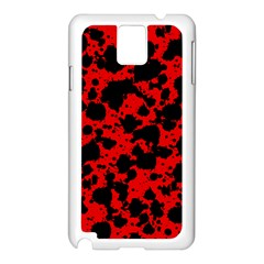 Black And Red Leopard Style Paint Splash Funny Pattern Samsung Galaxy Note 3 N9005 Case (white) by yoursparklingshop