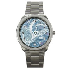 Agate Marble Sport Metal Watch by tarastyle