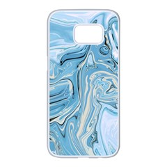 Agate Marble Samsung Galaxy S7 Edge White Seamless Case by tarastyle