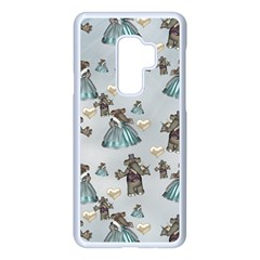 Funny Elephant, Pattern Design Samsung Galaxy S9 Plus Seamless Case(white)