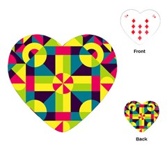 Modern Geometric Pattern Playing Cards (heart) by tarastyle