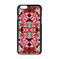 Modern Geometric Pattern Iphone 6/6s Black Enamel Case by tarastyle