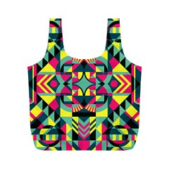 Modern Geometric Pattern Full Print Recycle Bag (m)