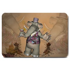 Funny Cartoon Elephant Large Doormat  by FantasyWorld7