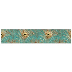 Peacock Glitter Feather Pattern Small Flano Scarf by tarastyle