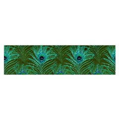 Peacock Glitter Feather Pattern Satin Scarf (oblong) by tarastyle