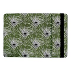 Peacock Glitter Feather Pattern Samsung Galaxy Tab Pro 10 1  Flip Case by tarastyle