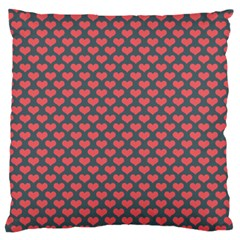 Love Hearth Texture Large Flano Cushion Case (one Side)