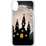 Halloween Illustration Decoration iPhone X Seamless Case (White) Front