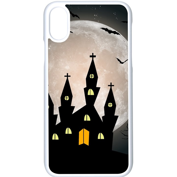 Halloween Illustration Decoration iPhone X Seamless Case (White)