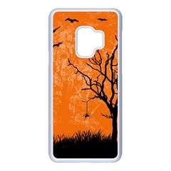 Halloween Illustration Decoration Samsung Galaxy S9 Seamless Case(white)