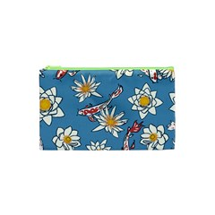 Koi Pattern Japanese Background Cosmetic Bag (xs)