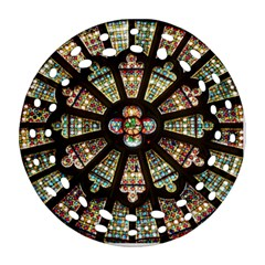 Church Window Rosette Glass Window Round Filigree Ornament (two Sides)