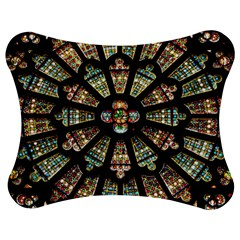Church Window Rosette Glass Window Jigsaw Puzzle Photo Stand (bow)