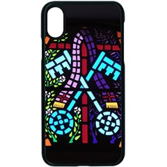 Mosaic Window Rosette Church Glass Iphone X Seamless Case (black)