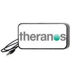 Theranos Logo Portable Speaker by milliahood