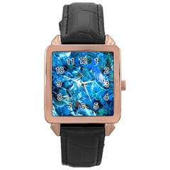 Tropic Rose Gold Leather Watch  by WILLBIRDWELL