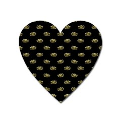 Dragon Head Motif Pattern Design Heart Magnet by dflcprintsclothing