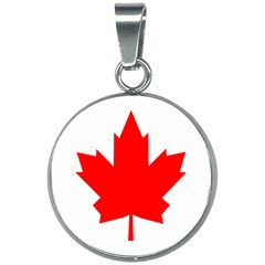Flag Of Canada, 1964 20mm Round Necklace by abbeyz71