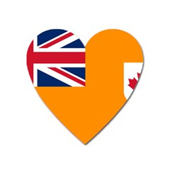 Flag Of Grand Orange Lodge Of Canada Heart Magnet by abbeyz71