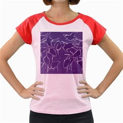 Katsushika Hokusai, Egrets From Quick Lessons In Simplified Drawing Women s Cap Sleeve T-shirt by Valentinaart