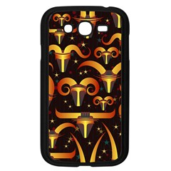 Stylised Horns Black Pattern Samsung Galaxy Grand Duos I9082 Case (black) by HermanTelo